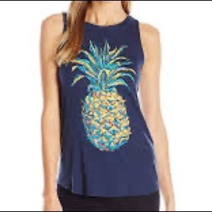 Lucky Brand pineapple Graphic Tank Top Tropical XS